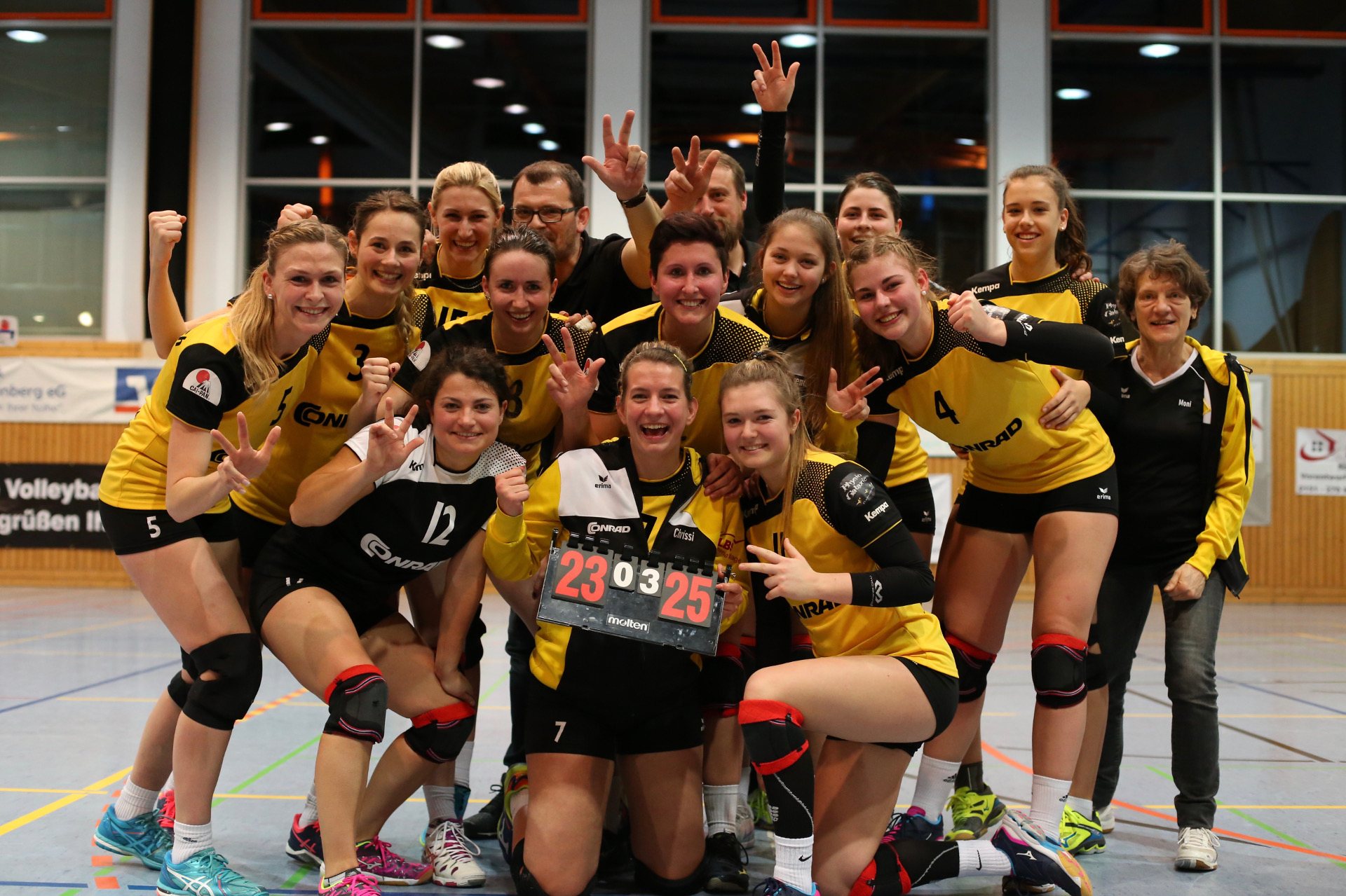 We congratulate the women's volleyball team